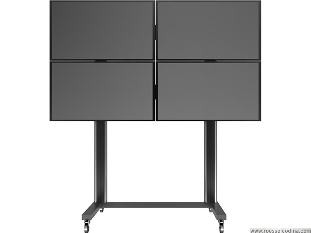 Roesselcodina product videowall stand 4 soporte con ruedas para 4 pantallas de tv plazo de - Soporte con ruedas para tv ...