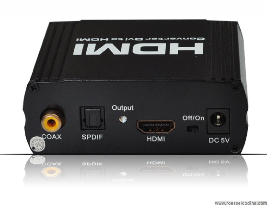 RoesselCodina Product: LKV56 – Conversor DVI + Audio a HDMI