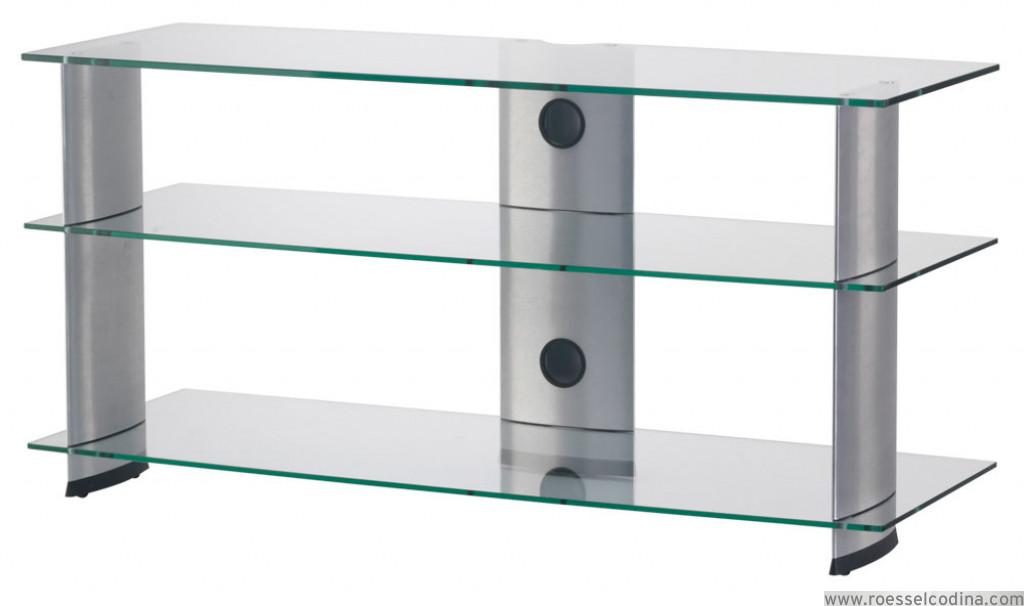Roesselcodina product pl3100 tg mueble de tv con 3 for Mueble 3 estantes