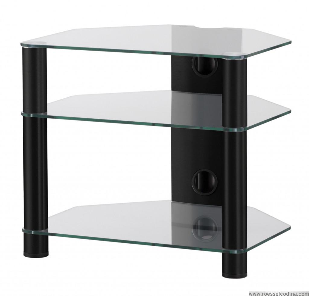 RoesselCodina Product RX2130TN Mueble Hifi de 3 estantes Vidrio