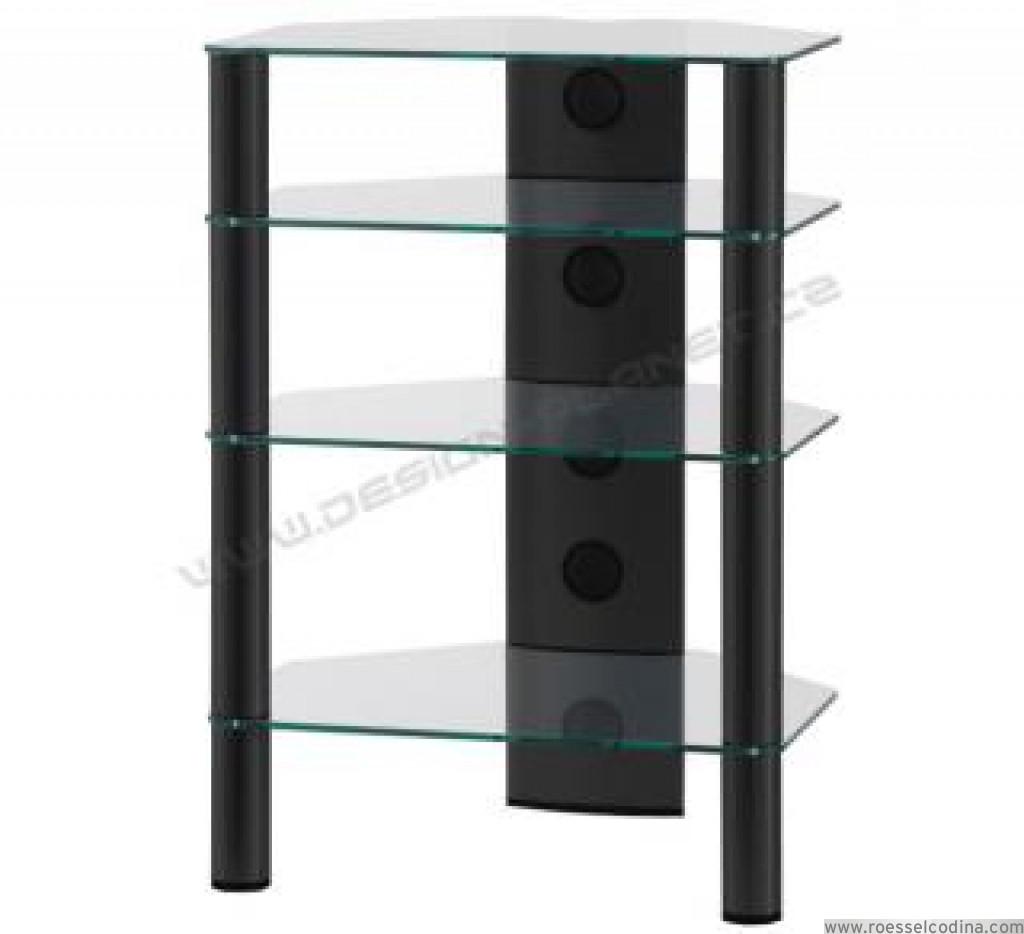 RoesselCodina Product RX2140TN Mueble Hifi de 4 estantes Vidrio