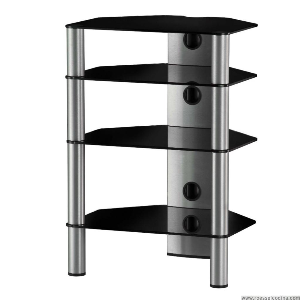 RoesselCodina Product RX2140NG Mueble Hifi de 4 estantes Vidrio