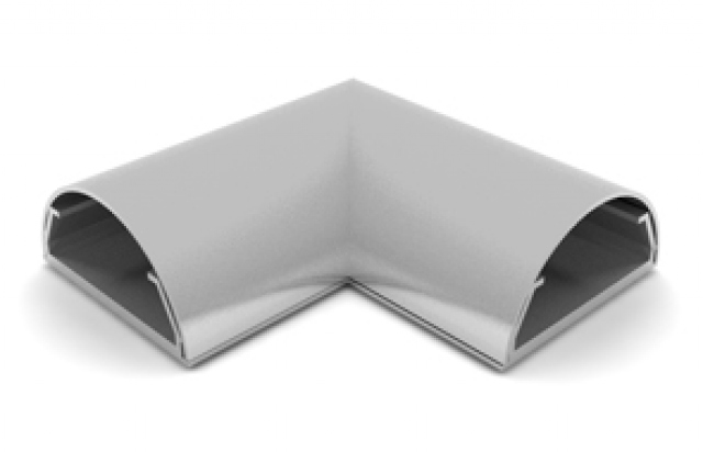 ANGLE COVER PARED-33G - Angulo ocultacable para pared. Ancho:33mm C/GRIS