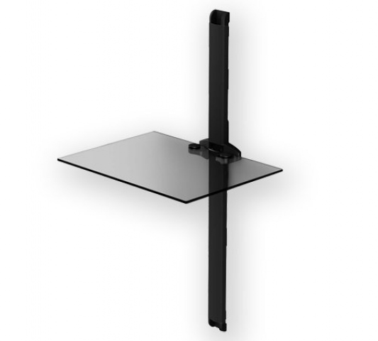 PL-2610 TN - Estante de pared con canaleta ocultacables. Transparente/Negro.