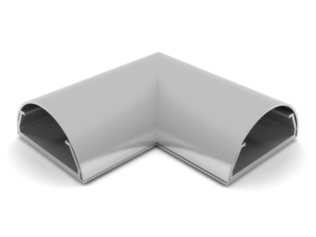 ANGLE COVER PARED-50G - Angulo ocultacable para pared. Ancho:50mm C/GRIS