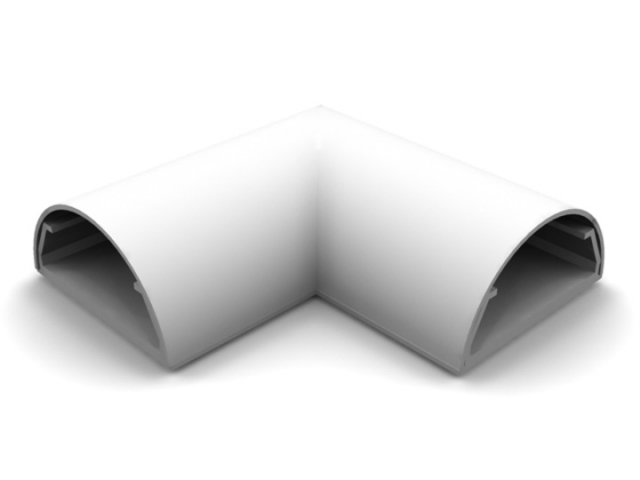 ANGLE COVER PARED-33BCO - Angulo ocultacable para pared. Ancho:33mm C/BLANCO