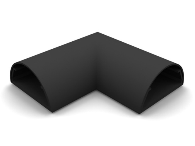 ANGLE COVER PARED-50N - Angulo ocultacable para pared. Ancho:50mm C/NEGRO