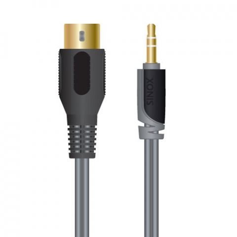SXA1601 - Adaptador Jack 3.5mm (M) a DIN 5 pin (H) con cable.