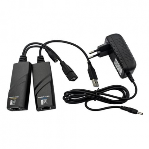 HUSB-100 - Extensor de señal USB 2.0 hasta 100 mts con 1 cable Ethernet (CAT 5/6)